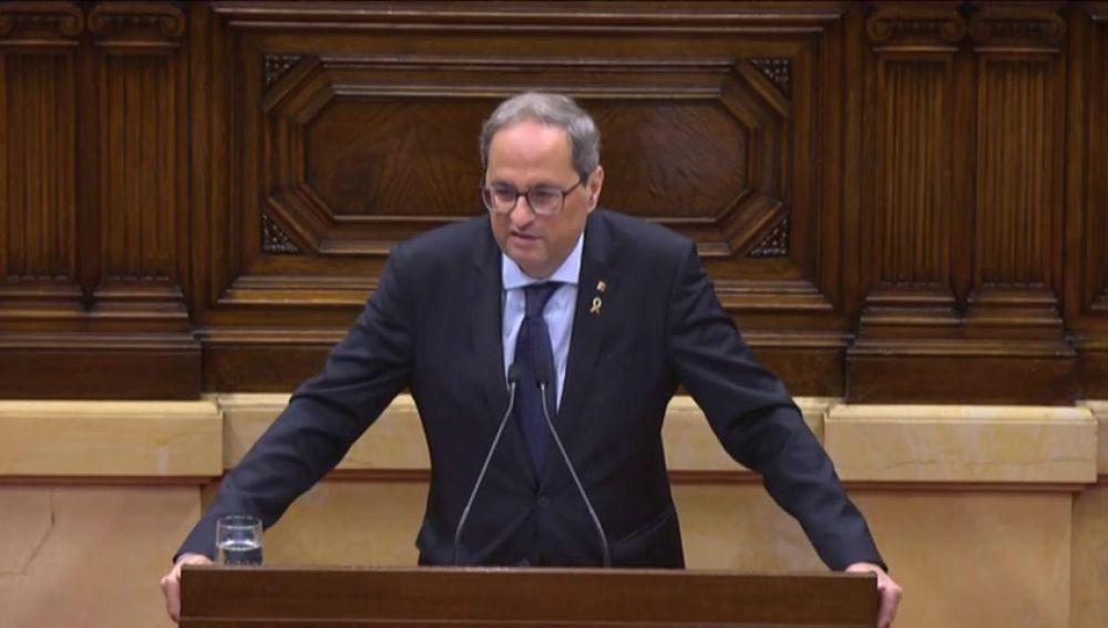 """Quim Torra: """"Volveremos a poner las urnas de la autodeterminación"""""""