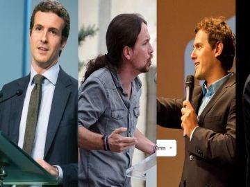 Elecciones Generales 2019: Pedro Sánchez, Pablo Casado, Pablo Iglesias, Albert Rivera y Santiago Abascal. Los líderes de los cinco principales partidos.