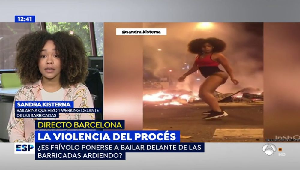 La bailarina de 'twerking' que desafía a las barricadas