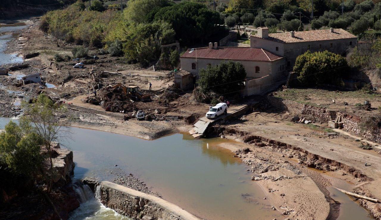 Los destrozos de la riada a su paso por Francolí