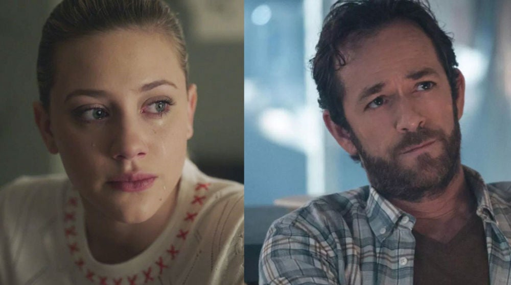 Luke Perry y Lili Reinhart como Fred y Betty en 'Riverdale'