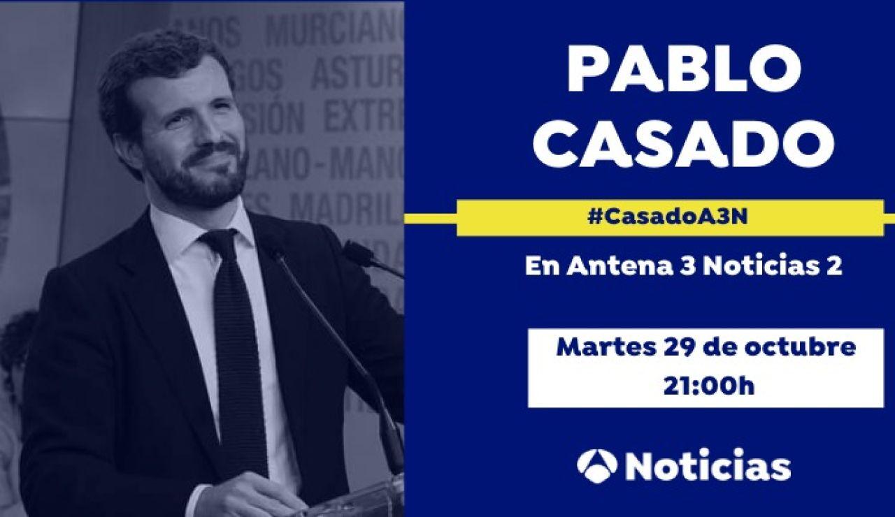 Entrevista a Pablo Casado en Antena 3 Noticias 2
