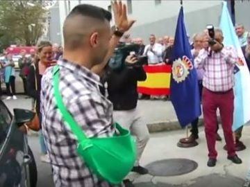 Ángel, el policía que ha sido recibido por los suyos en Galicia
