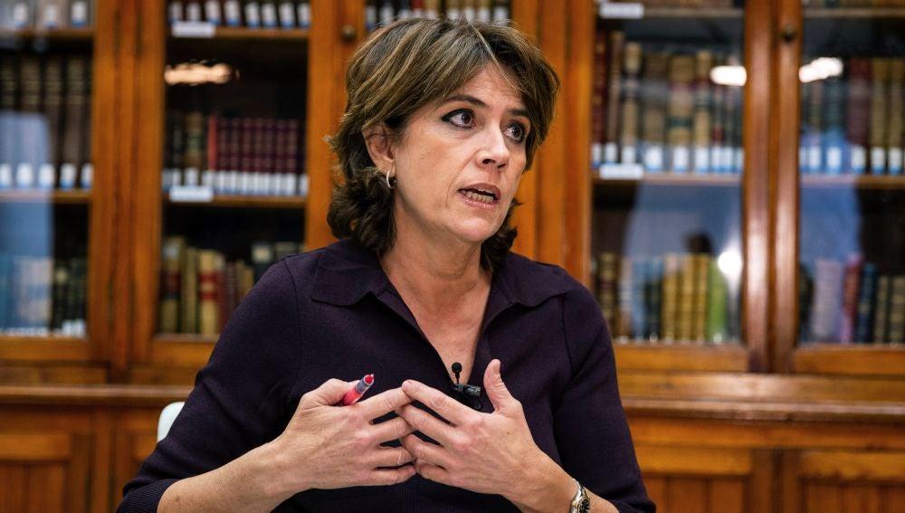 La ministra de Justicia en funciones, Dolores Delgado