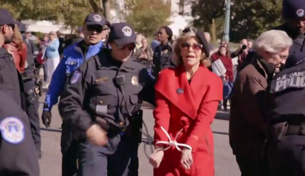 Detenida la actriz Jane Fonda en una manifestación ilegal contra el cambio climático