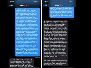 El mensaje que envió a su padre