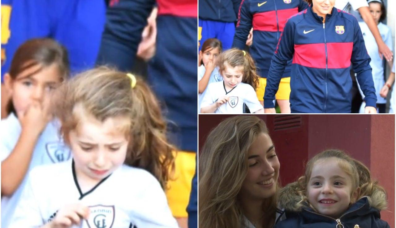 Las pequeña Daniela protagoniza la imagen más tierna de la jornada