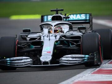 Hamilton, durante el GP de México