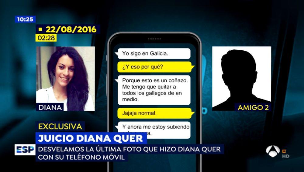 'Espejo Público' accede a los WhatsApp de Diana Quer en los que aseguraba sentirse atosigada por varios chicos