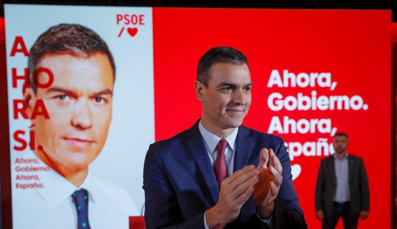 Pedro Sánchez en el acto de presentación de campaña del PSOE