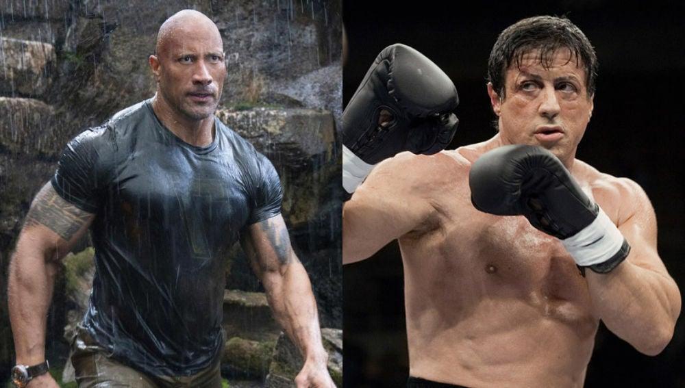Dwayne Johnson en 'Hobbs and Shaw' y Sylvester Stallone en 'Rocky'