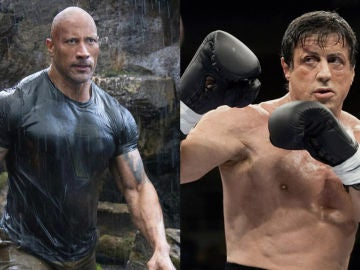 Dwayne Johnson en 'Hobbs and Shaw' y Sylvester Stallone en 'Rocky'