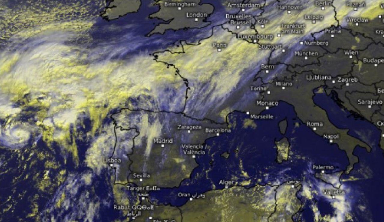 El huracán Pablo acercándose a Galicia