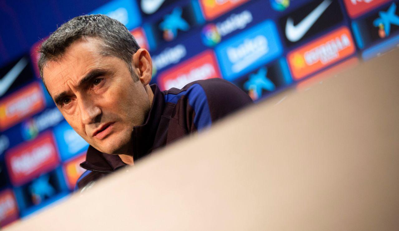 Valverde en la rueda de prensa previa al partido contra el Valladolid