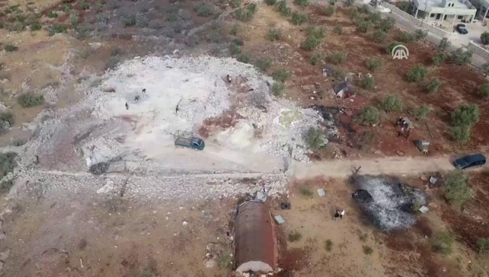 Las fotografías aéreas que muestran la operación de EE.UU. contra el líder del ISIS