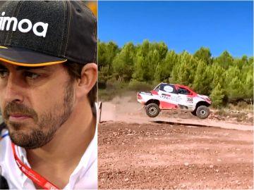 Fernando Alonso preparando el Dakar 2020