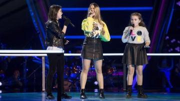 Julia Gonçalves, María Fernández y Sofía Esteban cantan 'Me & Mr. Jones' en las Batallas de 'La Voz Kids'