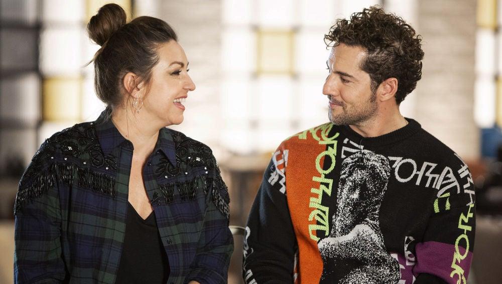 David Bisbal y Niña Pastori, cómplices con solo una mirada durante las grabaciones de 'La Voz Kids'