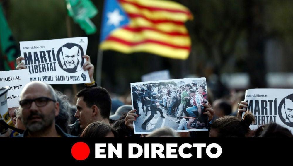 Cataluña: Última hora de Barcelona y los cortes de tráfico hoy, en directo