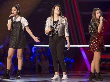 Alba Aguilar, Adriana Tonda y Giada Alessio cantan 'Homeless' en las Batallas de 'La Voz Kids'