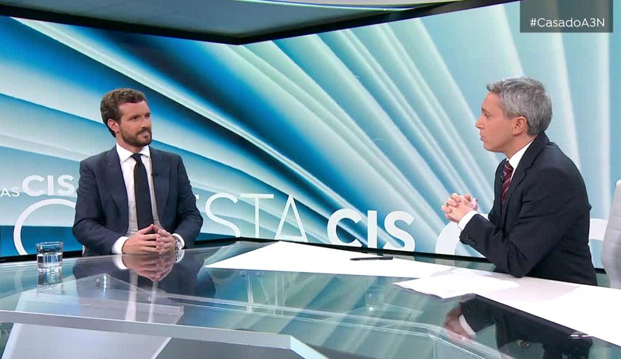 Noticias 2 Antena 3 - Entrevista a Pablo Casado por Vicente Vallés