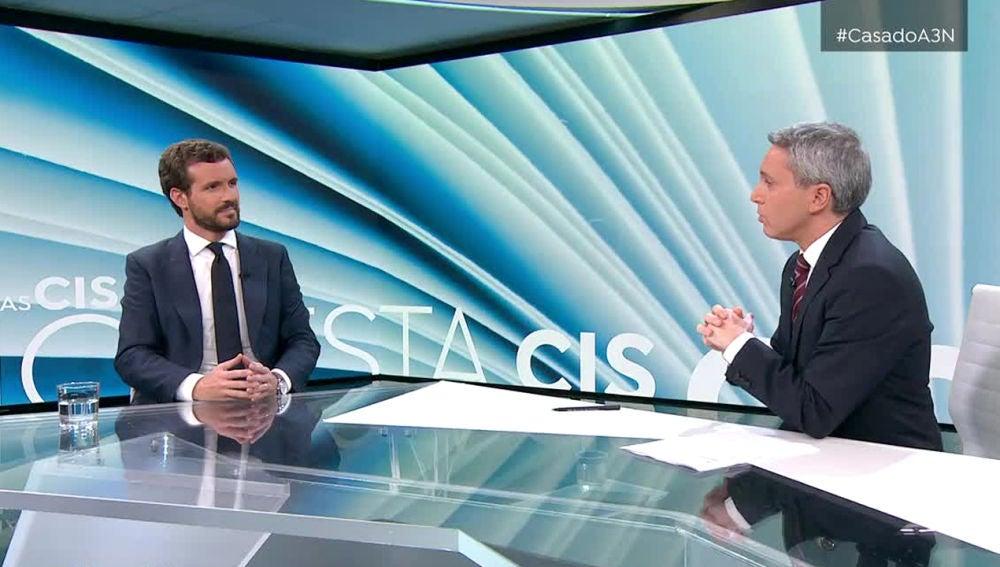 Elecciones generales 2019: Entrevista a Pablo Casado por Vicente Vallés