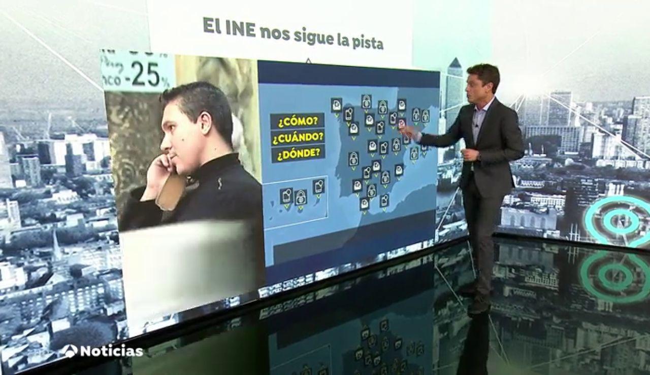 Todos los móviles españoles serán rastreados durante ocho días por el INE