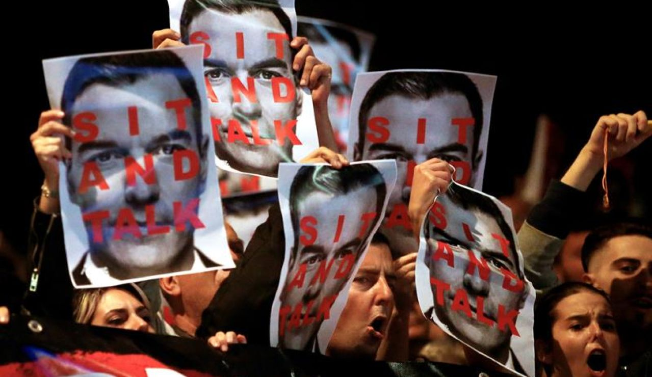 Protestas en Viladecans contra Sánchez