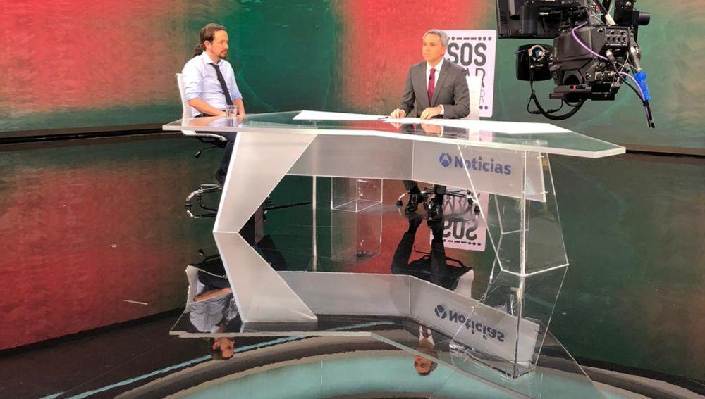 Entrevista de Pablo Iglesias en Antena 3 Noticias