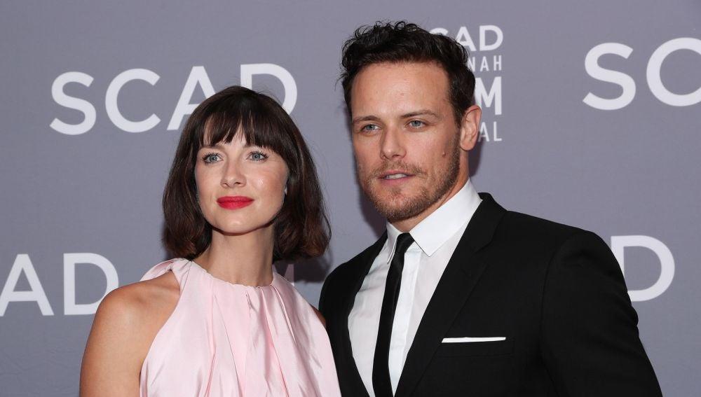 Sam Heughan y Caitriona Balfe, protagonistas de 'Outlander'