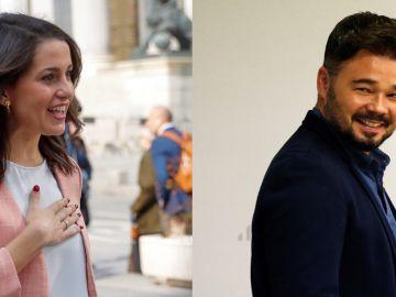 Inés Arrimadas y Gabriel Rufián