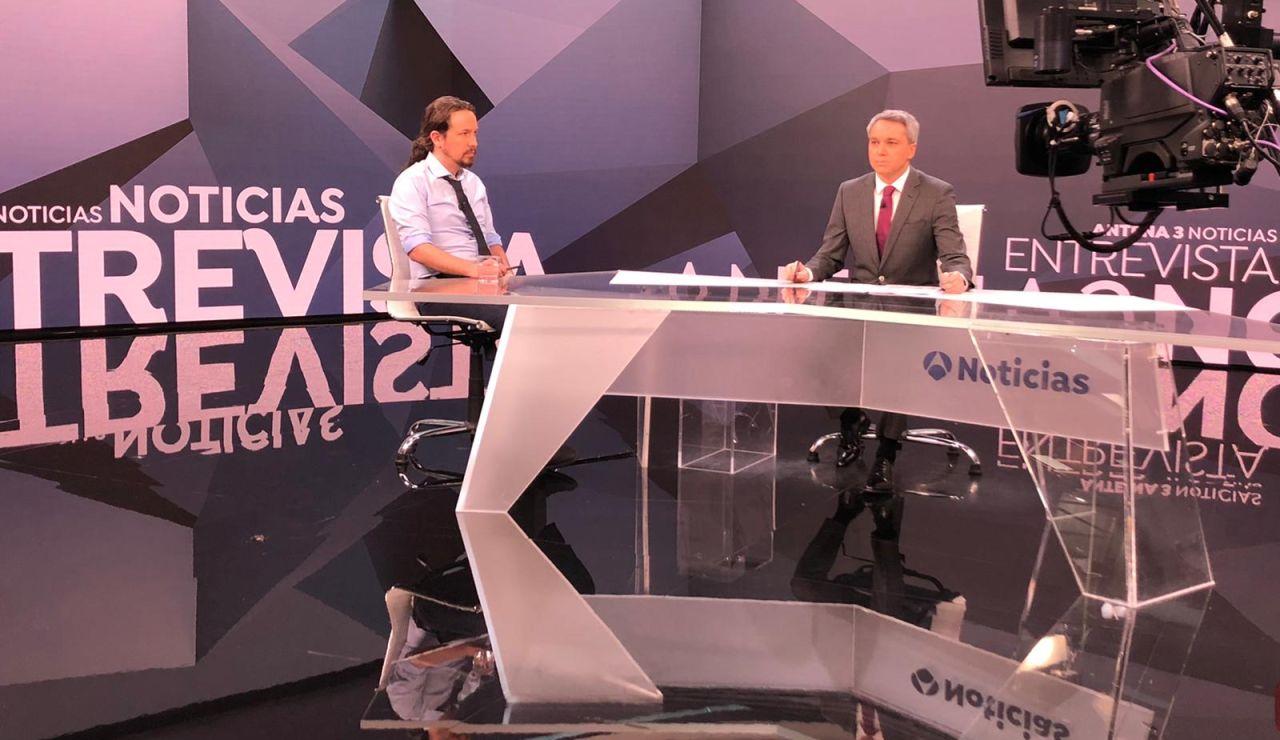 Pablo Iglesias en Antena 3 Noticias