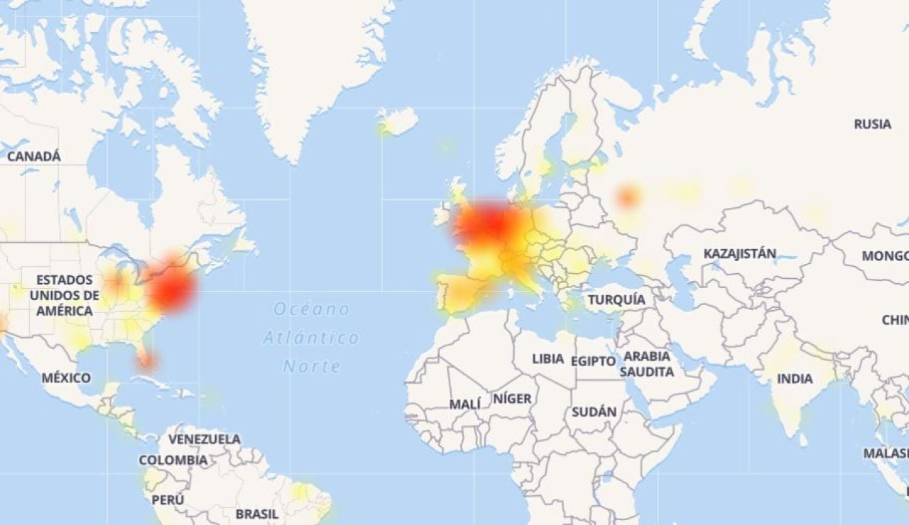 Mapa de fallos de Instagram