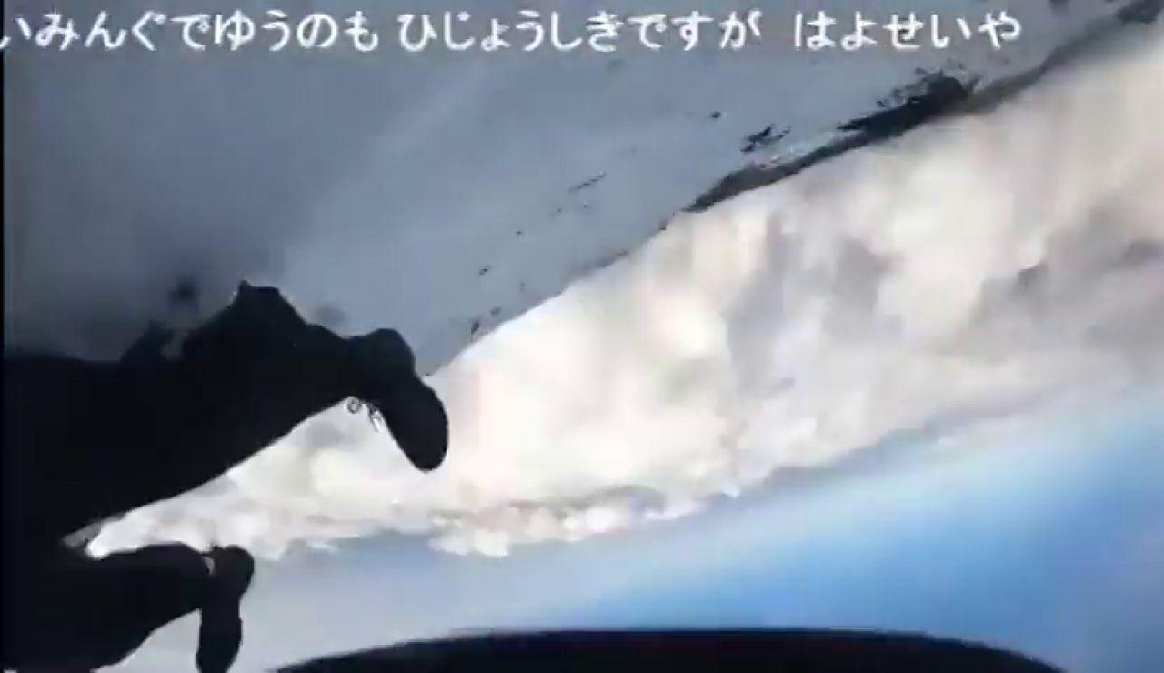 Un montañero retransmite en directo su propia caída en el Monte Fuji antes de desaparecer