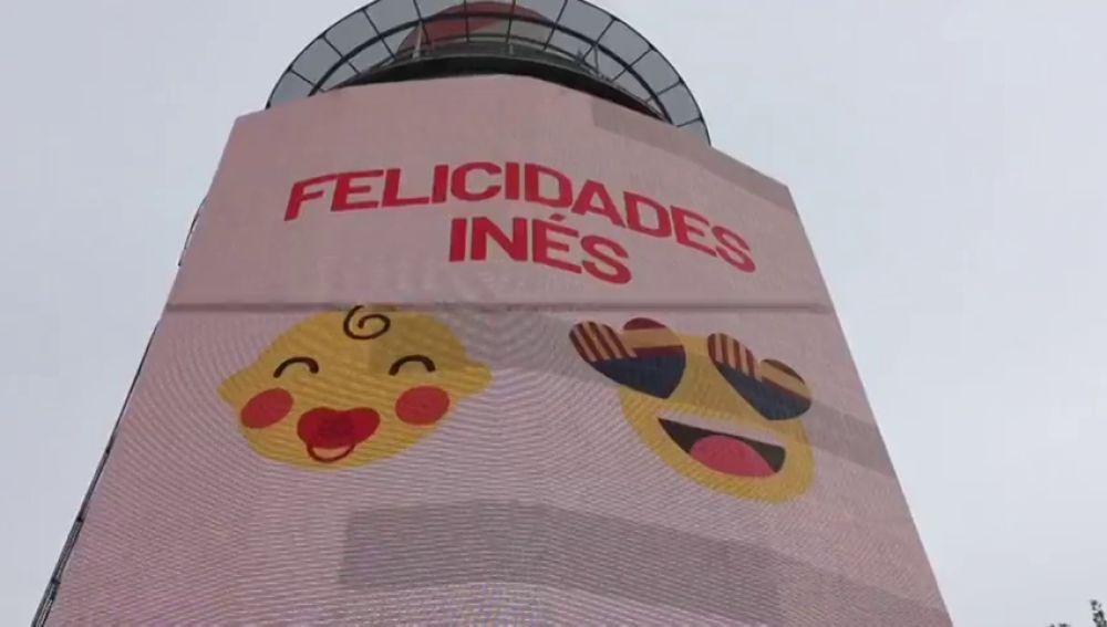 La pancarta con la que Ciudadanos felicita a Inés Arrimadas por su embarazo