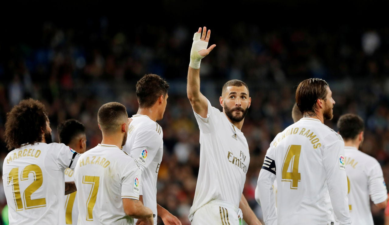 Real Madrid - Leganés: Benzema celebra su gol