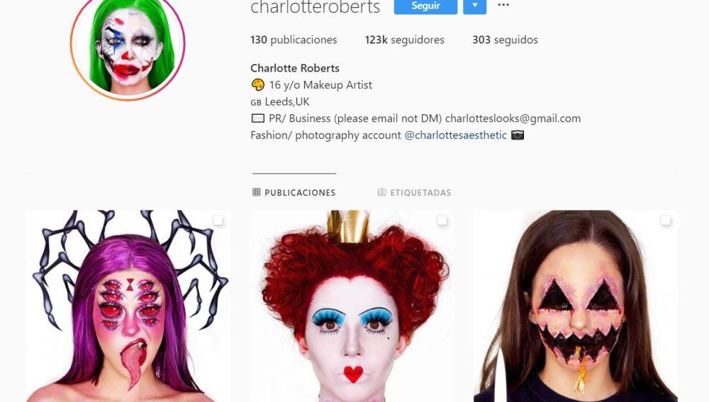 Instagram de Charlotte Roberts
