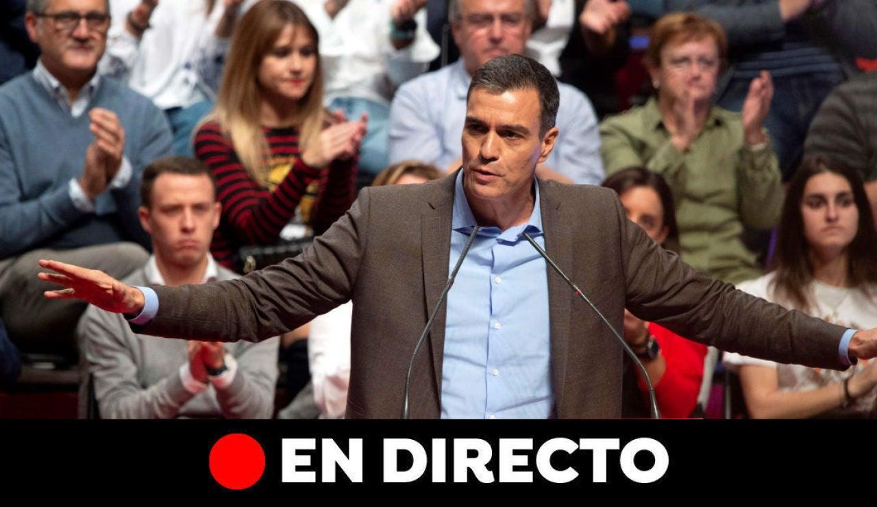 Elecciones generales 2019: Pedro Sánchez y última hora en directo