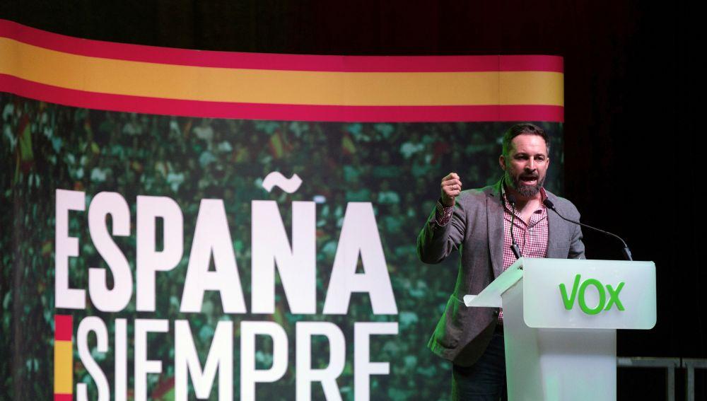 Santiago Abascal, en el mitin de Vox