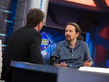 """Pablo Iglesias, en 'El Hormiguero 3.0': """"Cataluña puede ser la excusa perfecta para que el Partido Popular y el Partido Socialista terminen gobernando"""""""