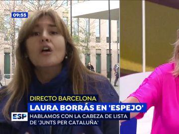 """El rifirrafe de Susanna Griso a Laura Borrás: """"No nos ponemos de acuerdo ni en mi apellido"""""""