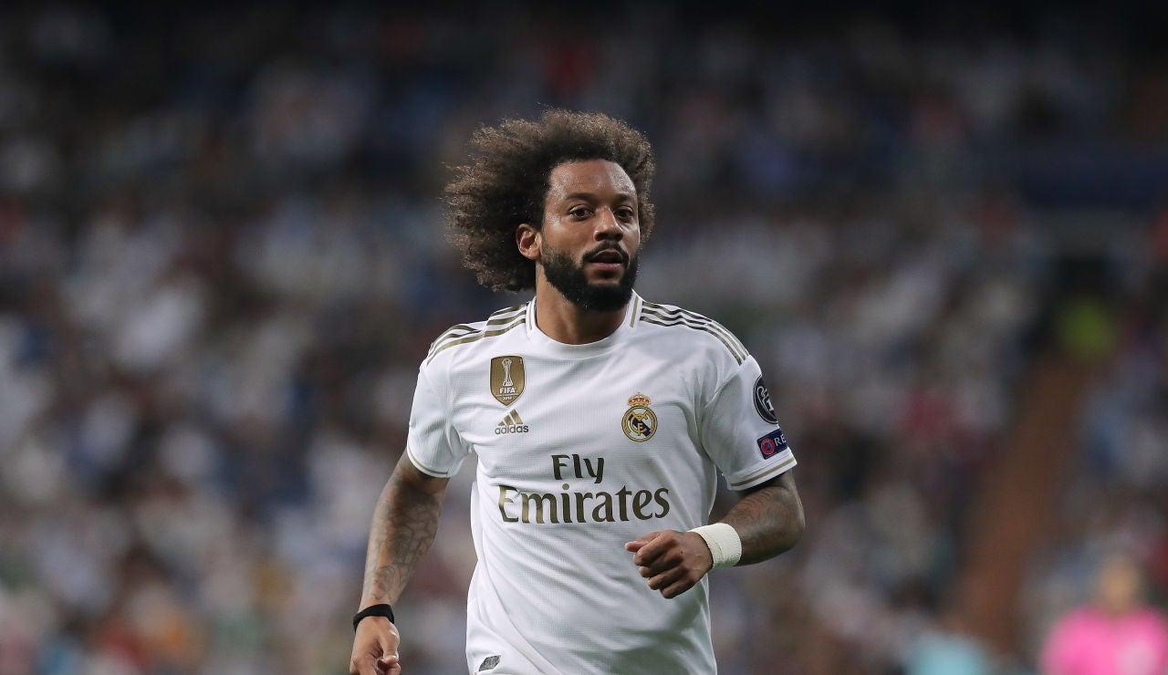 Marcelo, durante un partido del Real Madrid