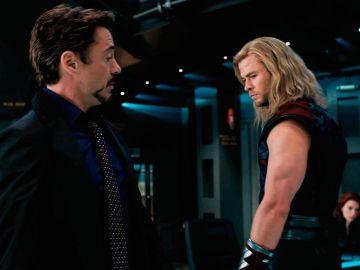 Iron Man y Thor en 'Vengadores'