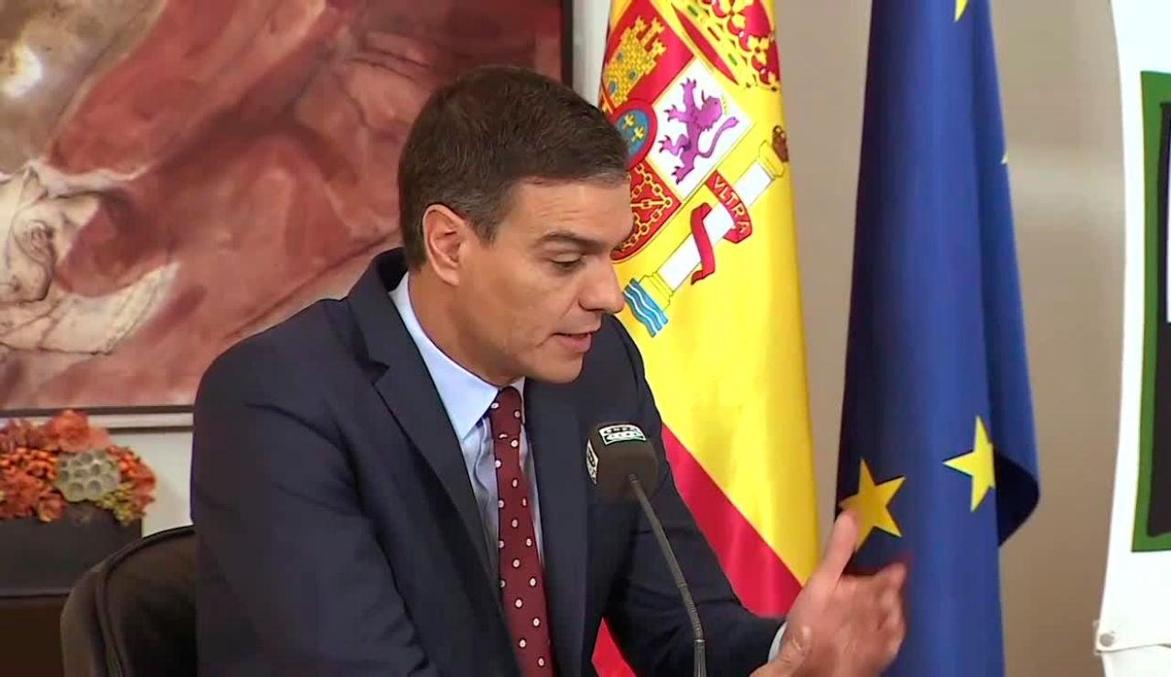 Pedro Sánchez durante la entrevista en Onda Cero