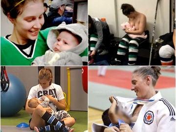 Mujeres que compaginan el deporte con la maternidad