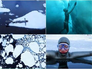 Anna Von Boetticher, buceando en los icebergs de Groenlandia