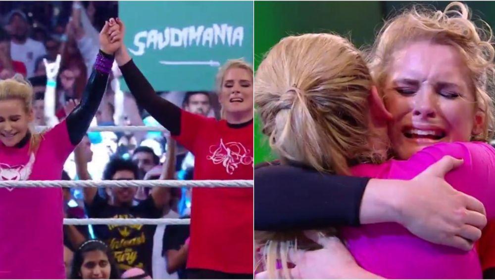 Natalya y Lacey Evans, en su histórico combate