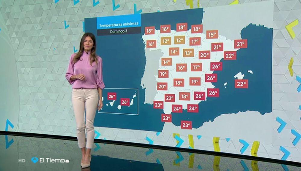 Temperaturas sin cambios y viento fuerte en el litoral cantábrico para el domingo