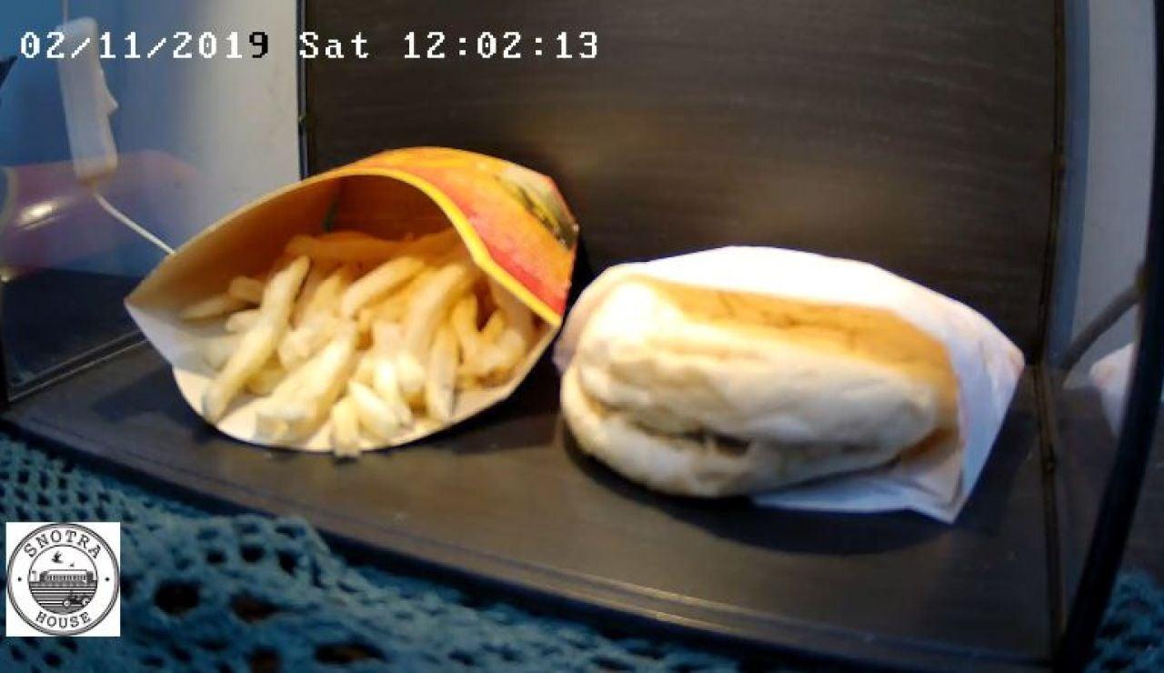 Captura del directo de la hamburguesa
