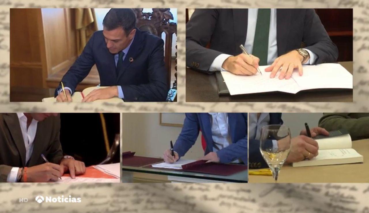 Elecciones generales 2019: así son los principales líderes políticos según su firma